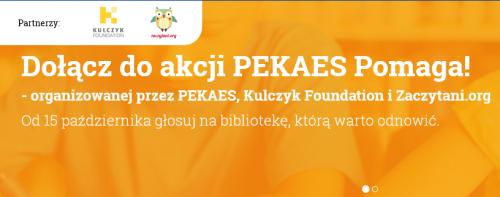 Dołącz do akcji PEKAES Pomaga!