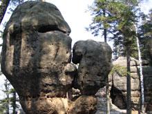 forma skalna wobrębie Radkowskich Skał